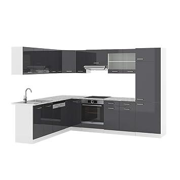 Vicco Küchenzeile R Line Eckküche Winkel Küche Einbauküche Anthrazit