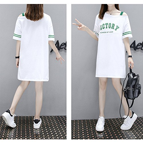Tops Blouse Short ZEVONDA Long Shirts Dress White Maternity Sleeve Fashion Nursing Womens T Dress Breastfeeding for ygS0pqBg