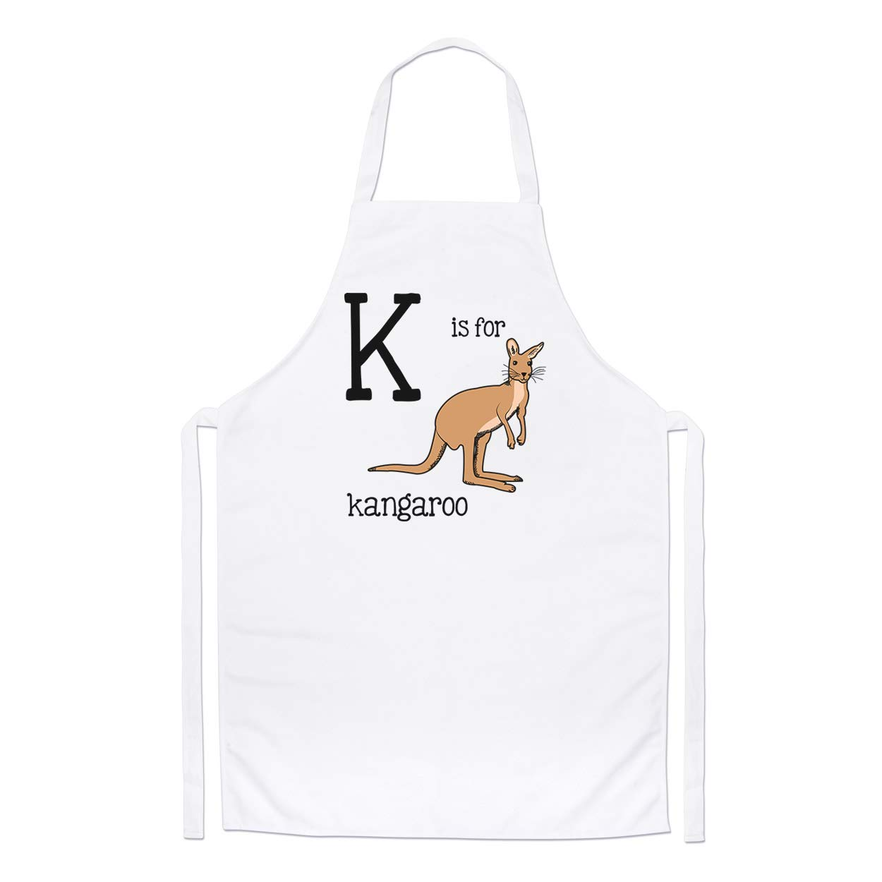 Letter K Is For Kangaroo Chefs Apron Gift Base