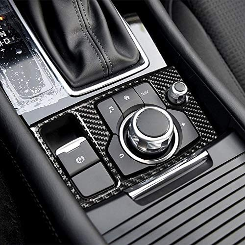 Autoinnenleisten Auto-Carbon-Faser-Links-Laufwerk Multimedia-Rahmen B dekorative Aufkleber Autozubeh/ör for Mazda Axela 2017-2018