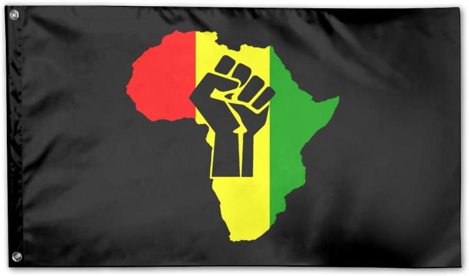 INZENYN African Black Power Garden Flag 3 X 5 Flag For House Decorative Banner Black