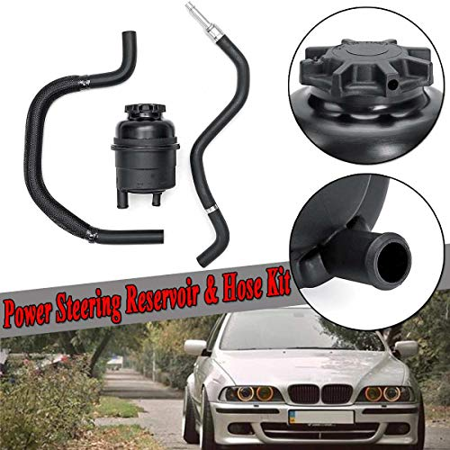 Gavita-Star - 3pcs Car Power Steering Reservoir Tank & Return Hose Kit For BMW E39 525i 528i 530i 328i 528i 550i X5 Z3 Z4 Mini For Cooper