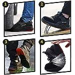 TQGOLD-Scarpe-Antinfortunistica-Uomo-Donna-S3-Estive-Scarpe-da-Lavoro-con-Punta-in-Acciaio-Comode-Sneaker-TraspirantiNeroTaglia-38
