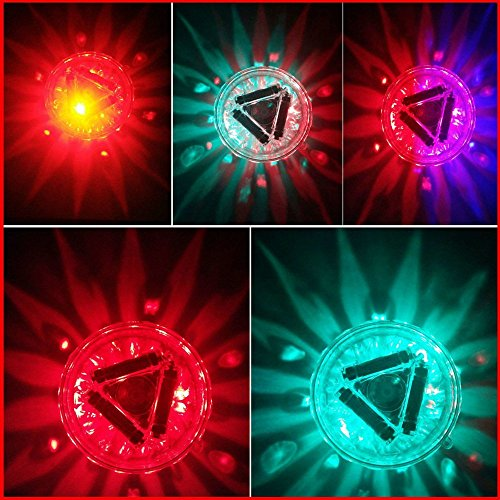 Underwater Bath Light,Floating Lamp LED Disco Aqua Glow Multi Colour Flashing Bathroom Pond Pool Spa Hot Tub Party Night Light Bath Light Up Toy with 7 Pattern Modes by Amadear (Image #3)