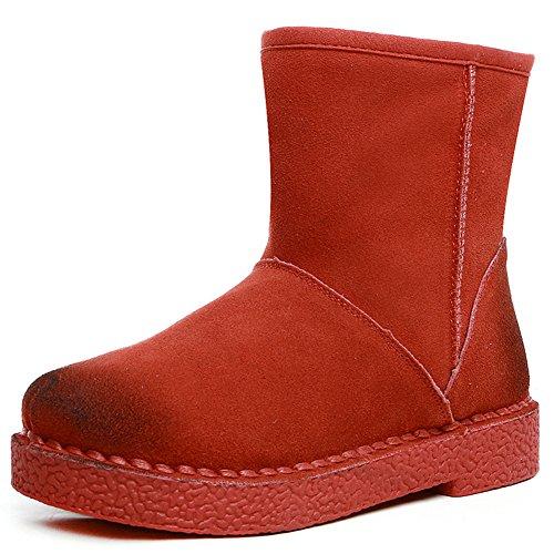 Ladies Winter Flat Platform Ankle Bootie US Size 5.5 lA1SMFlM