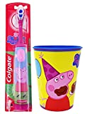 Toothbrush Set: 2 Items - Electric Toothbrush, Kids Character Rinse Cup