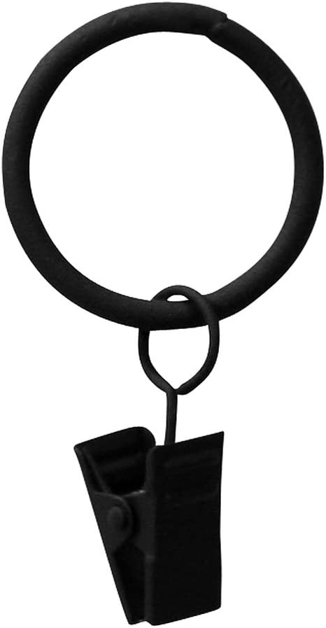 Black Wrought Iron Heart Hook Large Lot of 2 USA Made Forged Coat Curtain Swags