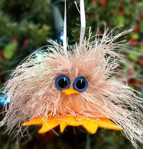 Pink Easter Chick Handmade Funny Felted Christmas Tree Ornament Christmas Decor Gift or Stocking Stuffer