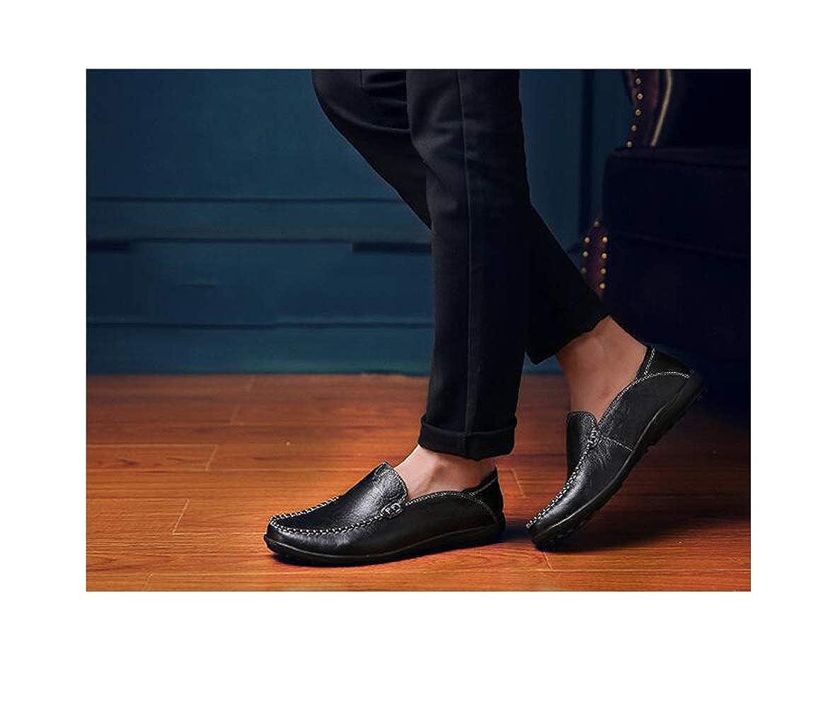 GGLZMMF Männer Erbsen Schuhe Schuhe Weichen Boden schwarz Fahren Freizeitschuhe Einzelne Schuhe schwarz Boden 428529