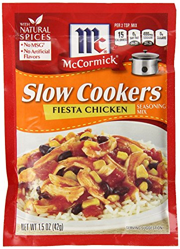(McCormick Slow Cookers Fiesta Chicken Seasoning Mix (Pack of 2) 1.5 oz Packets)