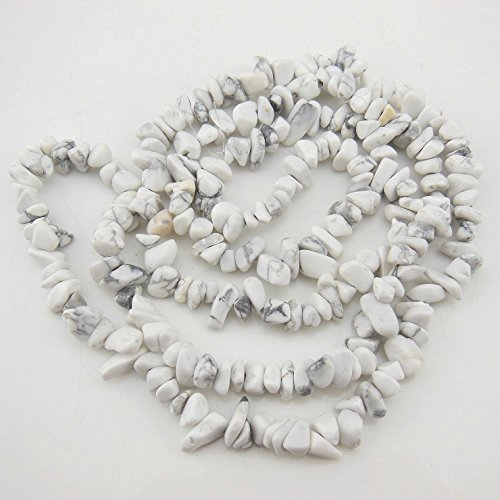 White Howlite Chip - COIRIS 2 Strands 33'' 5-8MM White Howlite Loose Chips Stone Gemstone Beads for Jewelry DIY or Making & Design (St-1037)