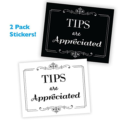 Wall26 Tips are Appreciated Sticker/Decal Store Sign ()