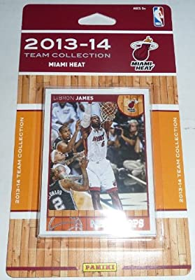 Miami Heat 2013 2014 Hoops Basketball Factory Sealed Team Set Including Lebron James, Chris Bosh, Dwyane Wade and More