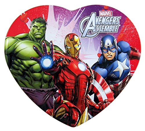 Disney Marvel Avengers Valentines Day Gift Heart Tin with Lollipops, 2.25 oz (Heart Gift Tin)