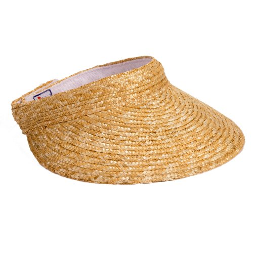 Scala Women's Sewn Braid Visor, Natural, One Size