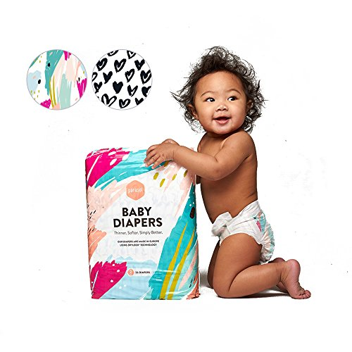 Parasol Baby Diapers  Hypoallergenic  Chlorine Free  Sensitive Skin Safe  Ultra Soft  Super Absorbent Drylock Technology   Premium Quality  Size 1  Dream Collection  66 Count