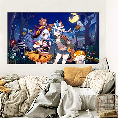 3D Halloween Girl 040 Japan Anime Wall Stickers Vinyl Wall Murals Print Art | Self-Adhesive Large Wall Stickers, AJ WALLPAPER US Wendy (Vinyl(NoGlue&Removable), 【19.7
