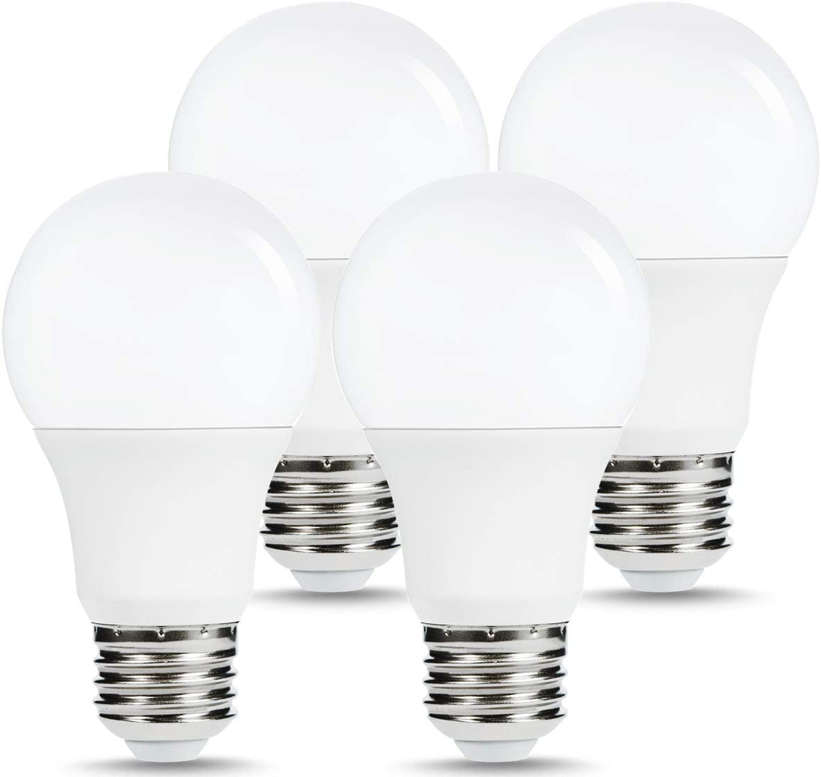 Homigo LED Light Bulbs 4-Pack, Non-Dimmable, 20W (150 Watt Equivalent), 2000LM, 5000K Daylight White, A19 LED Light Bulbs, Standard Replacement Bulbs with E26 Base