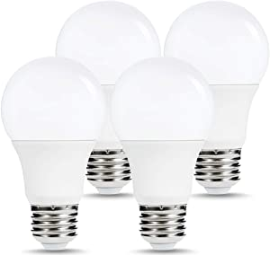 Energy-Efficient LED Light Bulbs 120Watt Equivalent, 15W, 1600LM, 5000K Daylight White, Non-Dimmable A19 Light Bulb,Standard Replacement Bulbs with E26 Base for Home, Bathroom, Table Lamp (4 Pack)