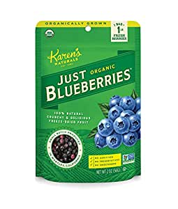 Karen's Naturals Just Tomatoes, Organic Just Blueberries 2 Ounce Pouch (Packaging May Vary)