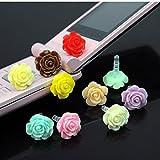10Pcs Freedi 3.5mm Dust Plug Flower Earphone Cap Headphone Accessory for iPhone 4 4S 5 5S 6 HTC Samsung Ipad 2 3 4 Mini Ipod Blackberry Sony Nokia Ramdon Color