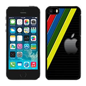 Beautiful Custom Designed Cover Case For iPhone 5C With Apple Logo with Colorful Lines Phone Case Cover