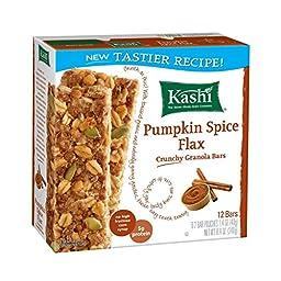 Kashi CRUNCHY Granola Bars: Pumpkin Spice Flax (Pack of 6, 8.4 oz Boxes) 12 Bars per Box