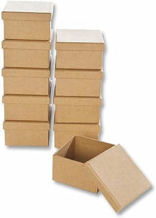 Creleo 790258 de cartón para-de Cajas de Rectangular de Manualidades y de Cajas con Tapa, 10 pcs, 7,5 x 4,5 cm: Amazon.es: Hogar
