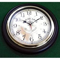 eSplanade - 7 Metal Vintage Clock | Classic Retro Clock, European Style Vintage Table Clock Desk Clock | Clocks for Home | Time Piece | No Alarm feature.