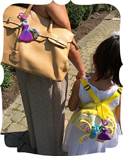 Discrete and Compact Fidget Fashion Plush HF-rainbow HipFits Rainbow Dress Silent Fidget and Backpack Charm