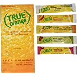 True Orange Dispenser Pack 100ct. Plus 5 SAMPLE sticks of True Lemon Lemonade, Peach, Raspberry, Black Cherry, and Orange Mango. Natural Flavored Water Enhancer, Great beverage option for Paleo Diet, Adkin's Diet, and other healthly diet programs.