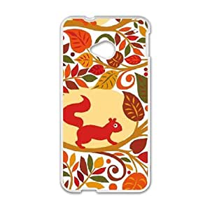 Cream Fall Animals HTC One M7 Cell Phone Case White DIY GIFT pp001_8117125