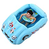 LQQGXL,Bath Car model Children's pool Blue PVC inflatable bathtub Inflatable bathtub ( Color : Blue )