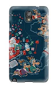 Durable Xmas Roller Coaster Back Case/cover For Galaxy Note 3