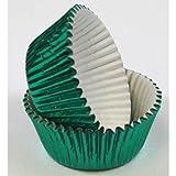 Fox Run Green Foil Standard Bake Cups, 32 Cups