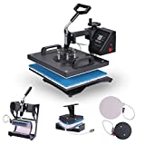 VEVOR Heat Presses 12 X 15 Inch 5 in 1 Digital Multifunctional Sublimation T Shirt Heat Press Machine 900W 360 Degree Rotation Heat Press Machine for T shirts Hat Mug Cap Plate (12 X 15 Inch 5 in 1)