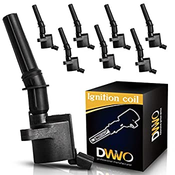 DWVO Ignition Coils 8 Pack for Ford 4.6L 5.4L V8 DG508 DG457 DG472 DG491 Ford CROWN VICTORIA EXPEDITION F-150 F-250 MUSTANG LINCOLN