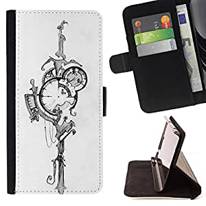 - Queen Pattern FOR Samsung Galaxy S5 Mini, SM-G800 /La identificaci????n del cr????dito ranuras para tarjetas tir????n de la caja Cartera de cuero cubie - abstract time street la