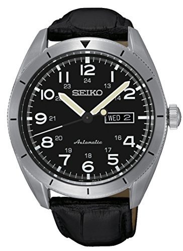 Seiko-Orologio-da-polso-meccanico-automatico-per-uomo-in-pelle-SRP715K1