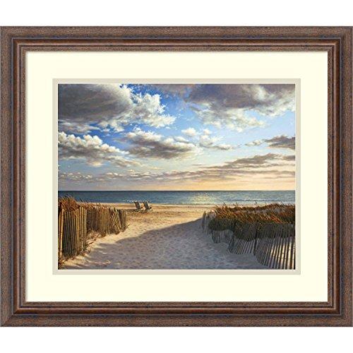 Framed Art Print, 'Sunset Beach' by Daniel Pollera: Outer Size 21 x 18