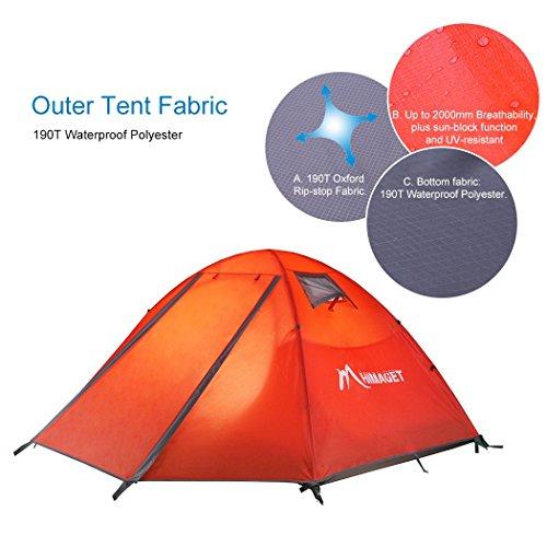 Himaget 2 Person Camping Tent, Orange