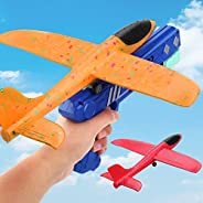 Aizoer Airplane Toy, 2 Flight Mode Catapult Plane Toy for Kids