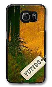 Samsung S6 Case,VUTTOO Cover With Photo: Autumn Romance For Samsung Galaxy S6 - PC Black Hard Case