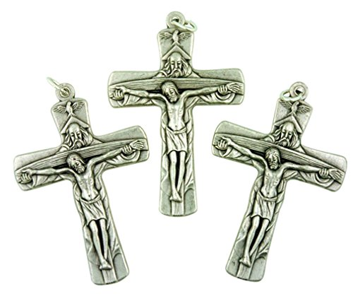 Lot of 3 The Father Son and Holy Ghost Trinity Cross 2 Inch Crucifix (Son Crucifix)