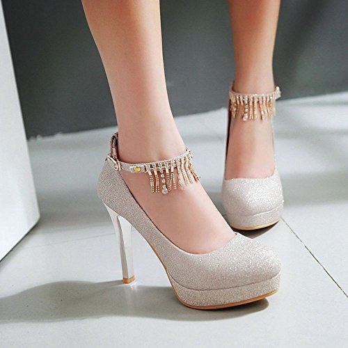 Moda Mujer Sexy Moda Espumoso Tacones De Dama De Honor Tacones De Novia  Zapatos De Tacón a502892a7555