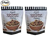 #3: Trader Joe's Organic Coconut Sesame Seed Clusters (2 pack) - Crunchy Coconut Clusters With Black & White Sesame Seeds.