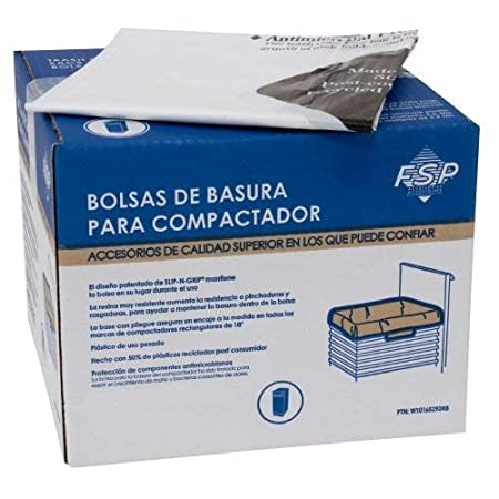 180-Pack Whirlpool W10165296BU 18-Inch Plastic Compactor Bags with Odor Remover