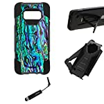"""URAKKI Case, Hybrid 2 Layer Shock Proof Heavy Duty Armor Kickstand Hard Case Compatible with Samsung Galaxy S8 G950… 5 COMPATIBLE WITH: Samsung Galaxy S8 G950 ( 2017 ) / ** NOT FOR ** Galaxy S8 """"Plus"""" , S8 """"Edge"""" G955 (2017) DUAL LAYERED - combination of skin and hard """"Grade A"""" material for a good, balanced protection BUILT IN KICKSTAND - allows for convenient, hands-free landscape or portrait viewing"""