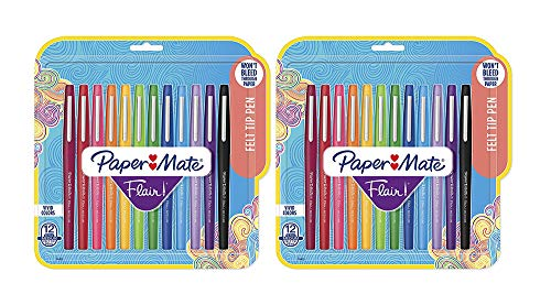 Medium Point (0.7mm), Assorted Colors, 12 Count