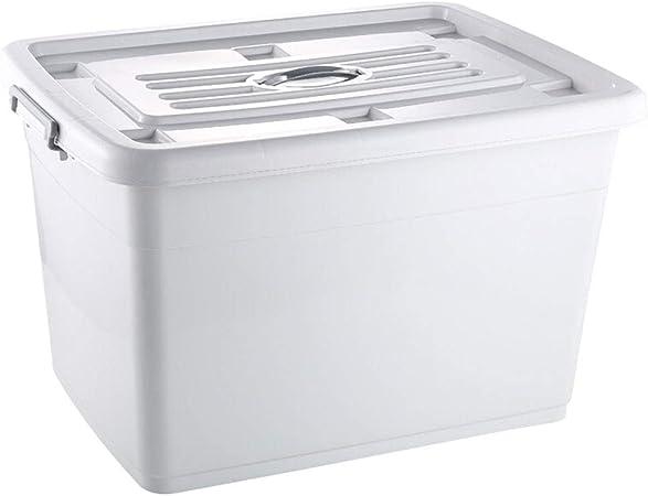 HUIQI Caja almacenaje Gran Caja de plástico for el hogar Ropa de Almacenamiento Caja de Almacenamiento Caja Blanca (170L) Cajas almacenaje plastico (Color : White, Size : 170L): Amazon.es: Hogar